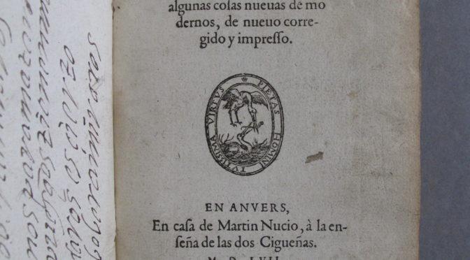 #Insoliteces (II) en #Bibliotecas (VI): unos versos de Diego Hurtado de Mendoza en las hojas de guarda del 'Cancionero general' (1557) conservado en la Codrington Library de Oxford